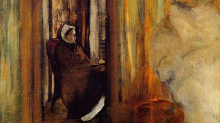 Эдгар Дега, «Сиделка», фрагмент, 1873 г.
