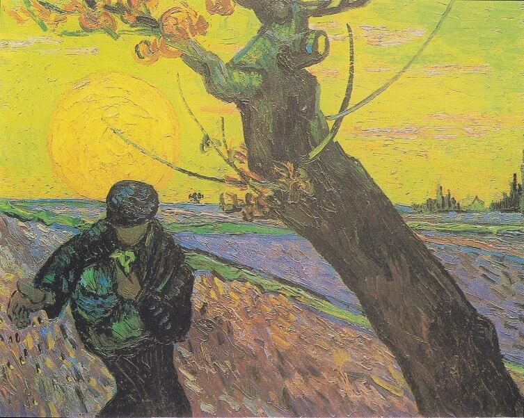 Винсент Ван Гог, «Сеятель в закатном свете», ноябрь 1888 г.