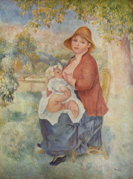 Пьер Огюст Ренуар, «Материнство (Алина и Пьер)», 1886 г.