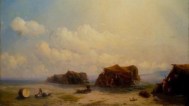 И. К. Айвазовский, «Чумаки (Цыганский табор)», 1857 г.
