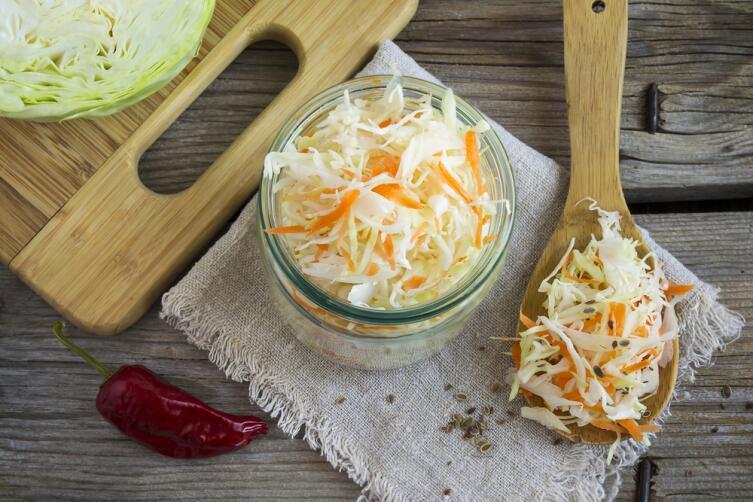 Квашеная капуста с морковью