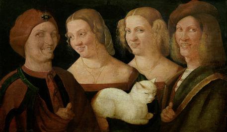 Никколо Франджипане, «Четыре смеющихся человека с кошкой», XVI век