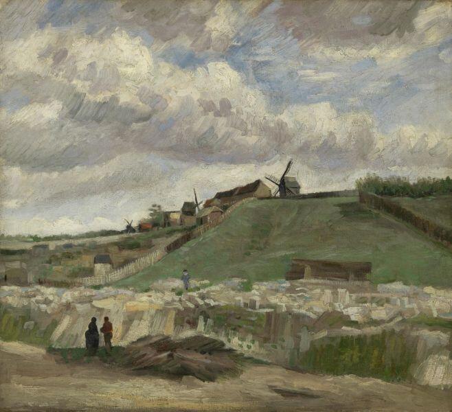 Винсент Ван Гог, «Холм Монмартра с карьером и мельницей», июль 1886 г.