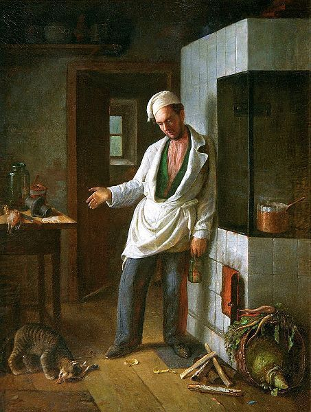 С. И. Грибков, «Кот и повар», 1854 г.