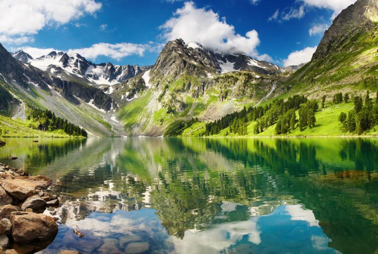 Горное озеро на Алтае