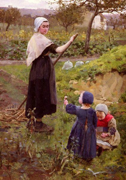 Джеймсон Миддлтон, «Мать с дочерьми в огороде»