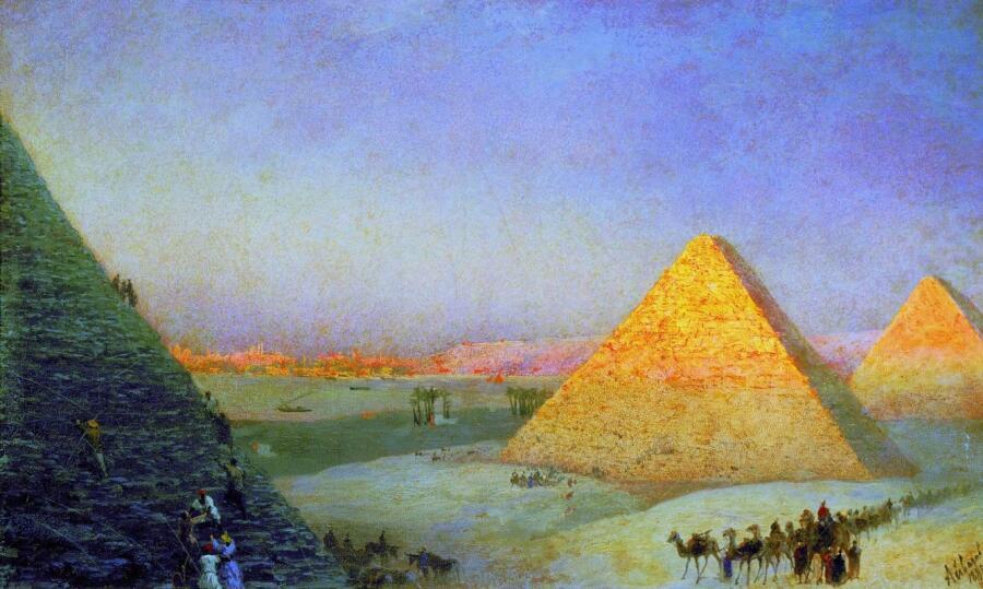 И. К. Айвазовский, «Пирамиды», 1895 г.