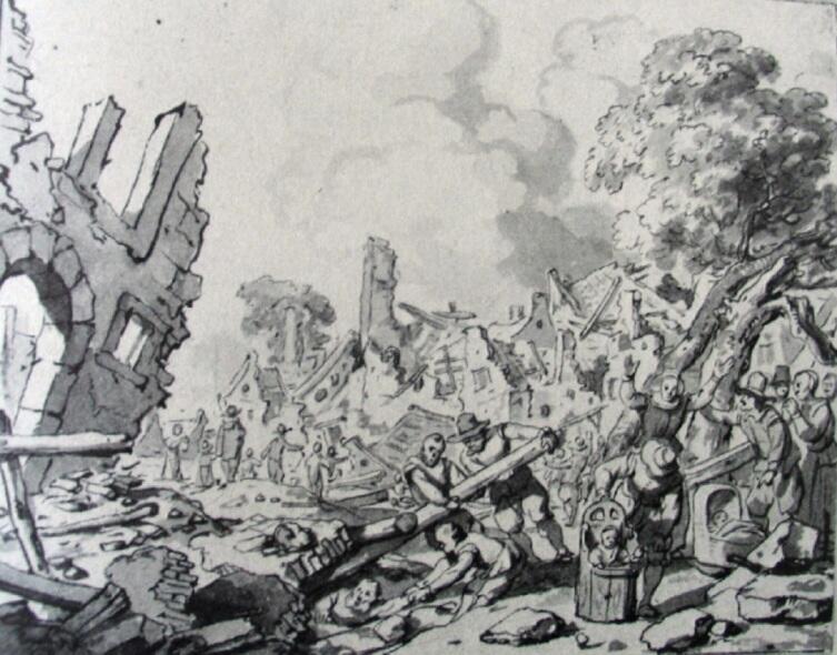 Гербранд Ван ден Экхоут, «Дельфт после взрыва порохового склада», 1654 г.
