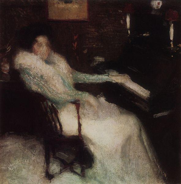 И. Э. Грабарь, «Дама у пианино», 1899 г.