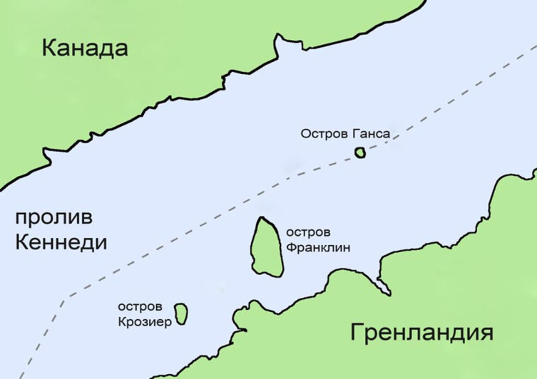 Остров Ганса в проливе Кеннеди