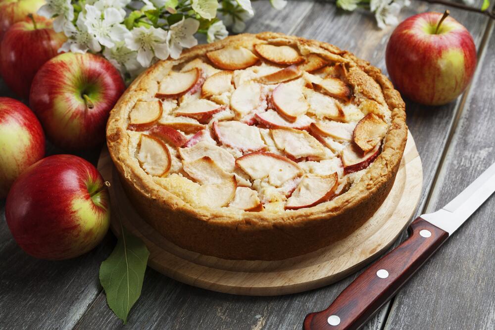 Картинки пирога шарлотки с яблоками, картинки