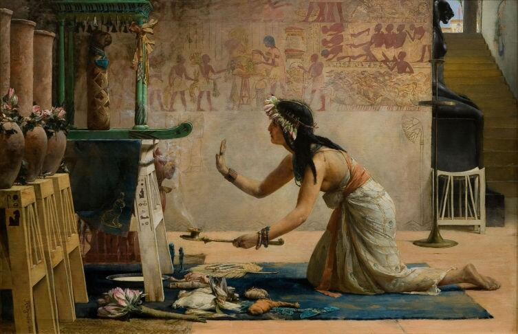 Дж. Р. Вегелин, «Погребальный обряд кошки», 1886 г.