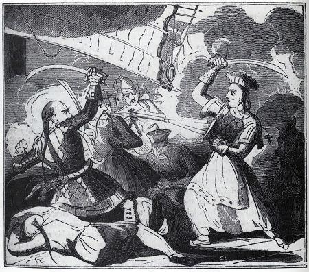 Госпожа Чжэн. Рисунок из старинной книги