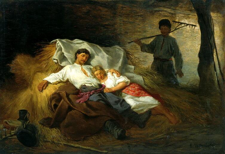 К. А. Трутовский, «На сеновале», 1872 г.