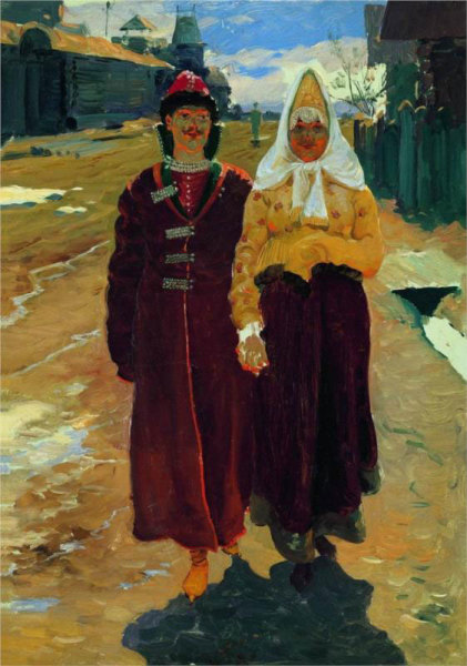 А. П. Рябушкин, «В гости», 1896 г.