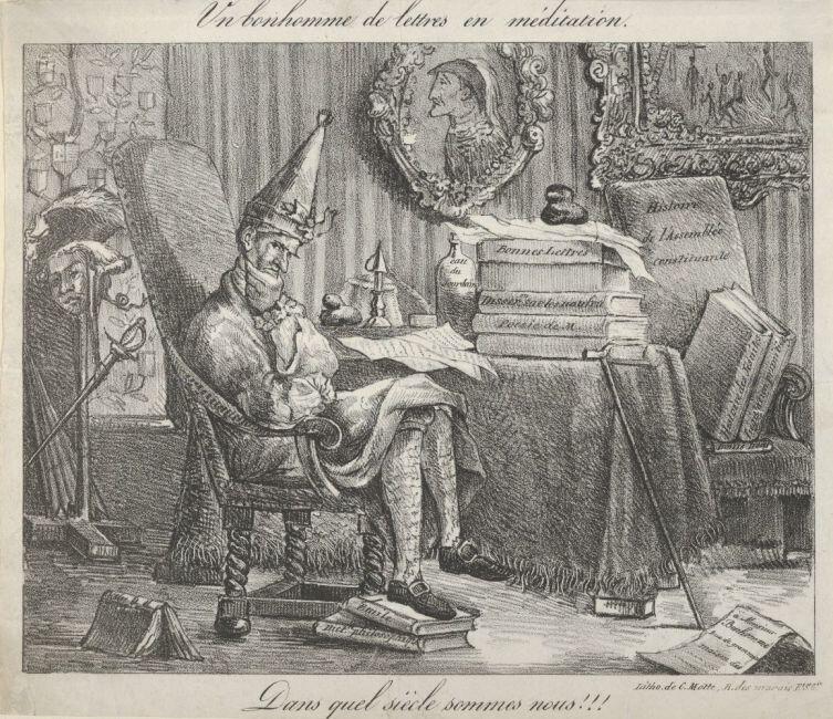Эжен Делакруа, «Размышляющий литератор», 1821 г.
