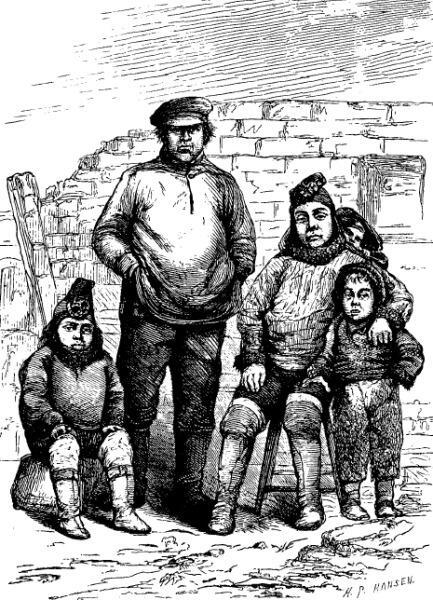 Ганс Хендрик с женой и детьми