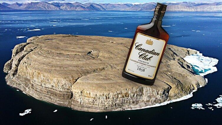 Канадцы оставляют на острове Ганса виски