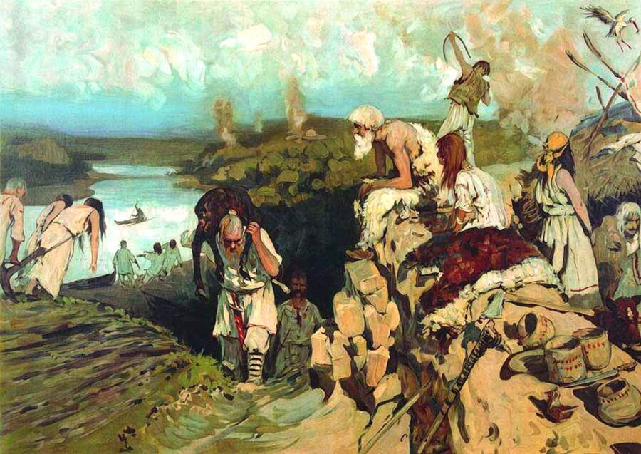 С. В. Иванов, «Жилье восточных славян», 1909 г.