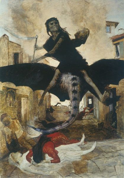 Арнольд Бёклин, «Чума», 1898 г.