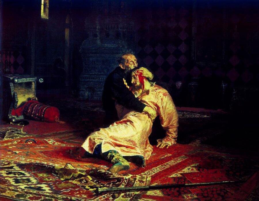 И. Е. Репин, «Иван Грозный и его сын Иван 16 ноября 1581 года», 1885 г.
