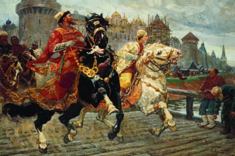 М. И. Авилов, «Царевич Иван Иванович на прогулке», 1913 г.