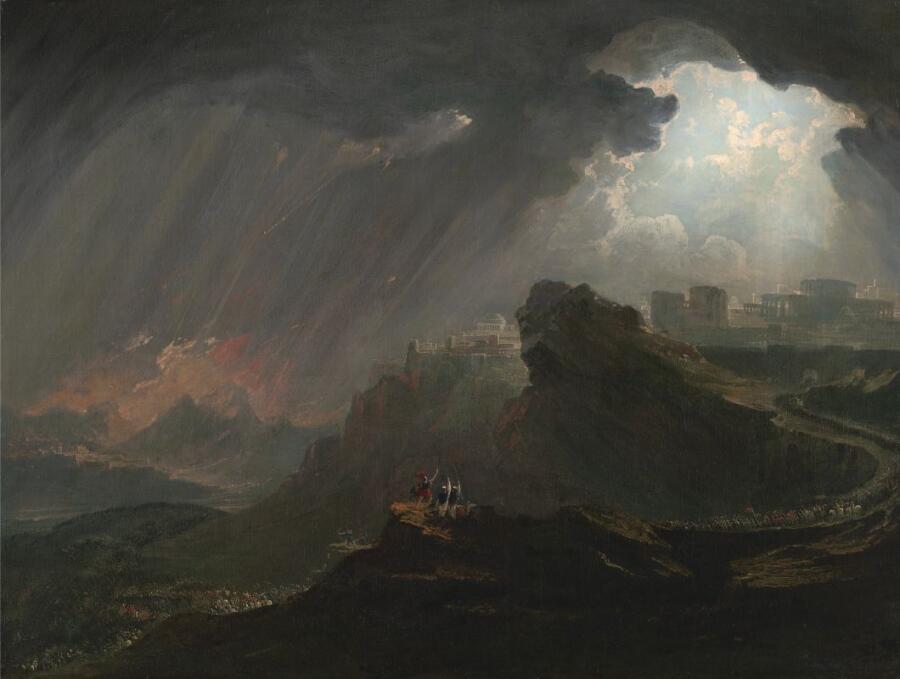 Джон Мартин, «Иисус Навин приказывает солнцу остановиться», 1840-е г.