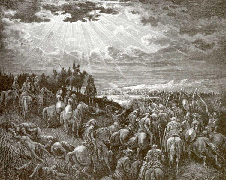 Поль Гюстав Доре, Иллюстрация к Библии: «Иисус Навин сказал: стой, солнце, над Гаваоном»