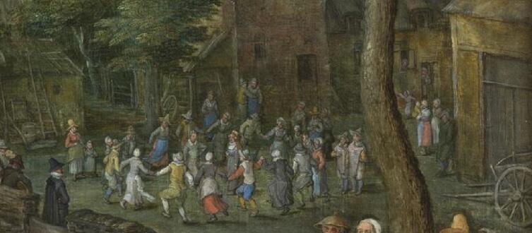 Ян Брейгель Старший, «Деревенская свадьба», фрагмент «Хоровод», 1612 г.