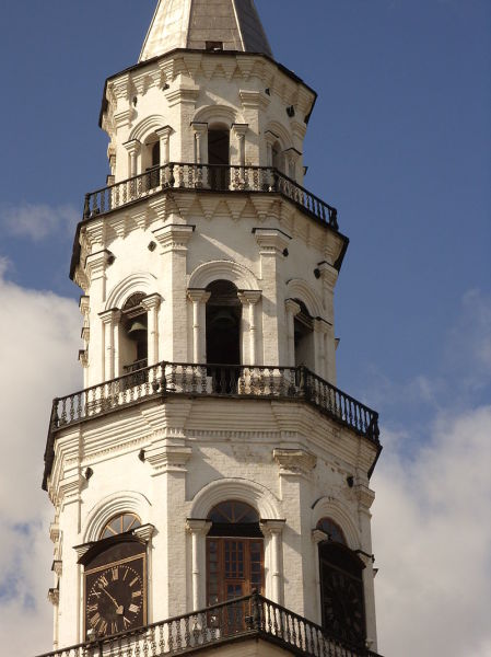 Невьянская башня. Верхние ярусы