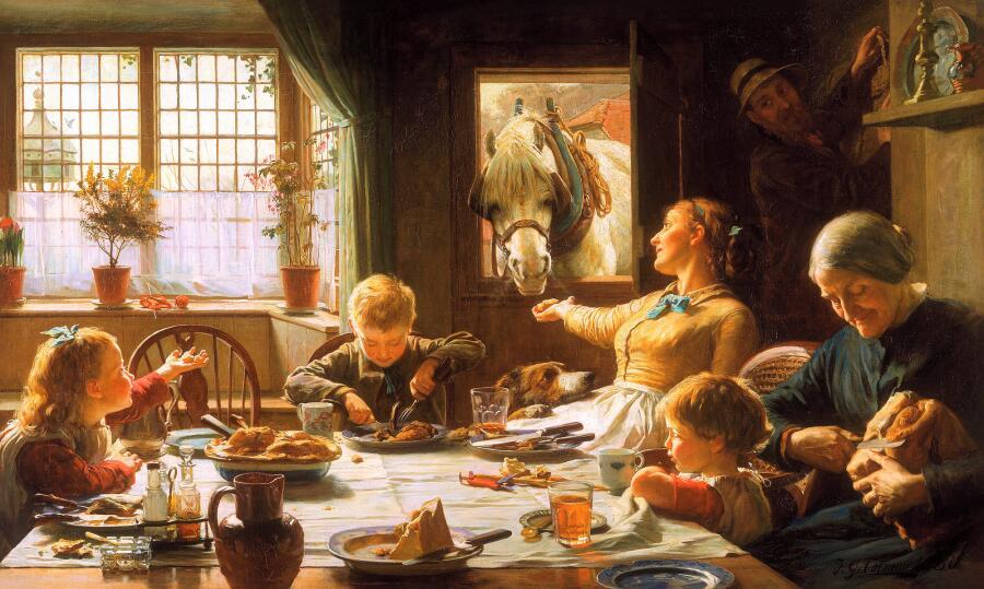 Фредеррик Джордж Котман, «Один из членов семьи», 1880 г.