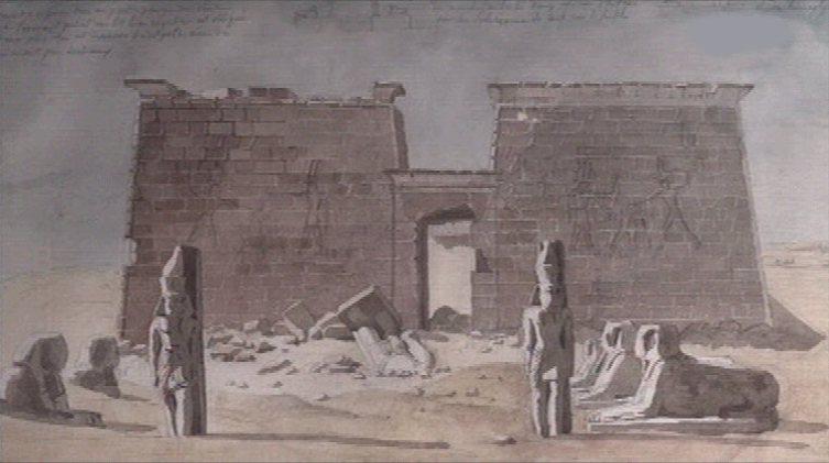 Рисунок из записей Шампольона
