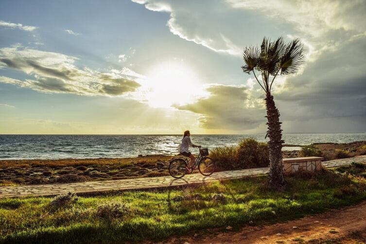 Закат, море, Кипр