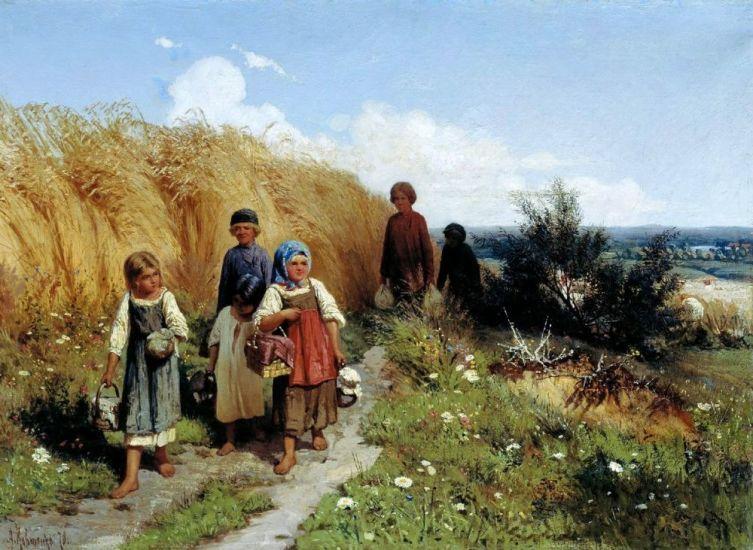 А. Д. Кившенко, «Жнитво», 1878 г.