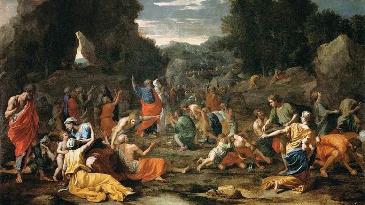 Никола Пуссена, «Сбор манны в пустыне», 1637-1639 гг.