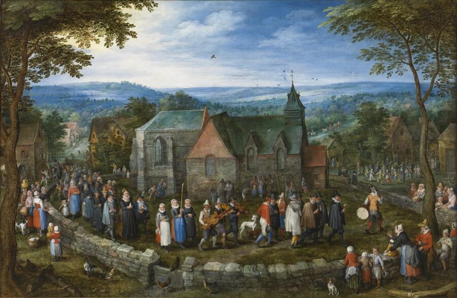 Ян Брейгель Старший, «Деревенская свадьба», 1612 г.