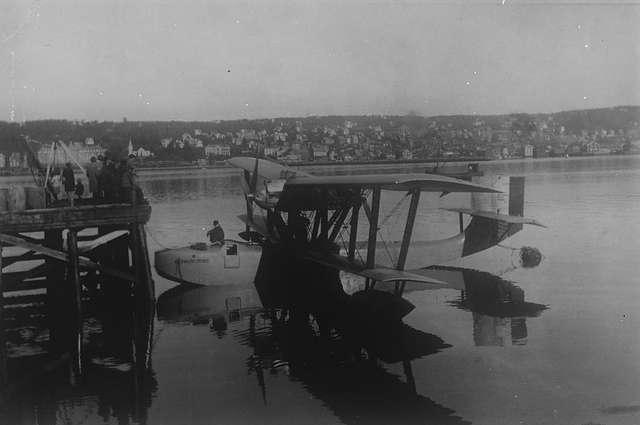 «Латам-47» — последний самолёт Амундсена. Тромсё, 18 июня 1928 года