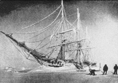 Корабль «Бельжика», вмёрзший во льды, 1898 год
