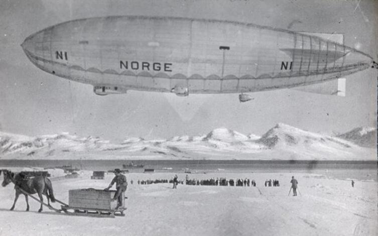 Дирижабль «Норвегия» в Ню-Олесунне