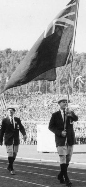 Лес Миллс на открытии Олимпийских игр в 1960 г.