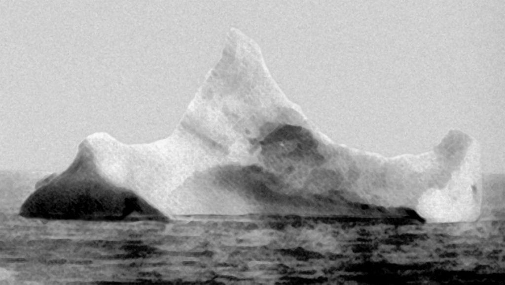 фото айсберга с которым столкнулся титаник как