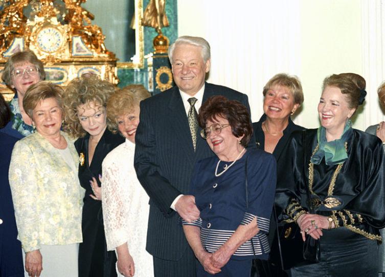 С президентом России Борисом Ельциным 8 марта 1998 года