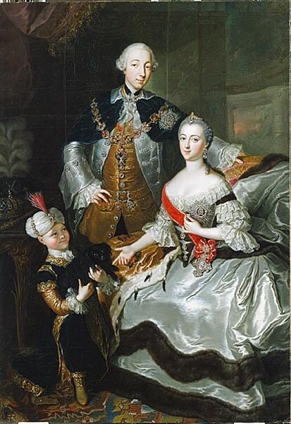 Петр III с Екатериной II картина работы Анны Розины де Гаск
