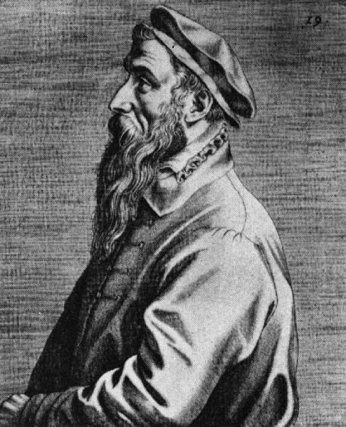 Доминик Лампсоний, портрет Питера Брейгеля Старшего, 1572 г.