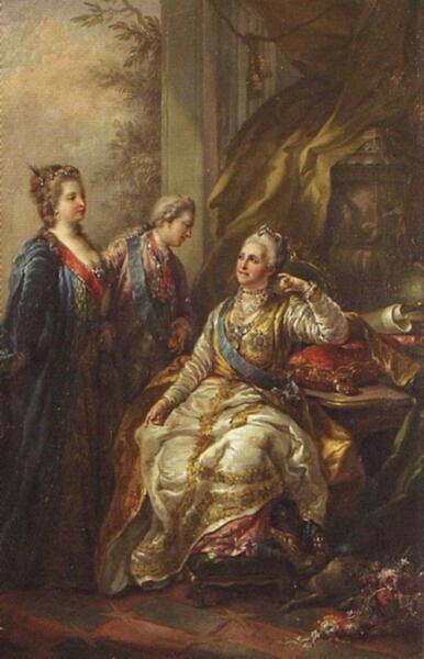 С. Торелли, «Великий князь Павел Петрович представляет императрице Екатерине II свою невесту, будущую великую княгиню Марию Федоровну», 1776 г.
