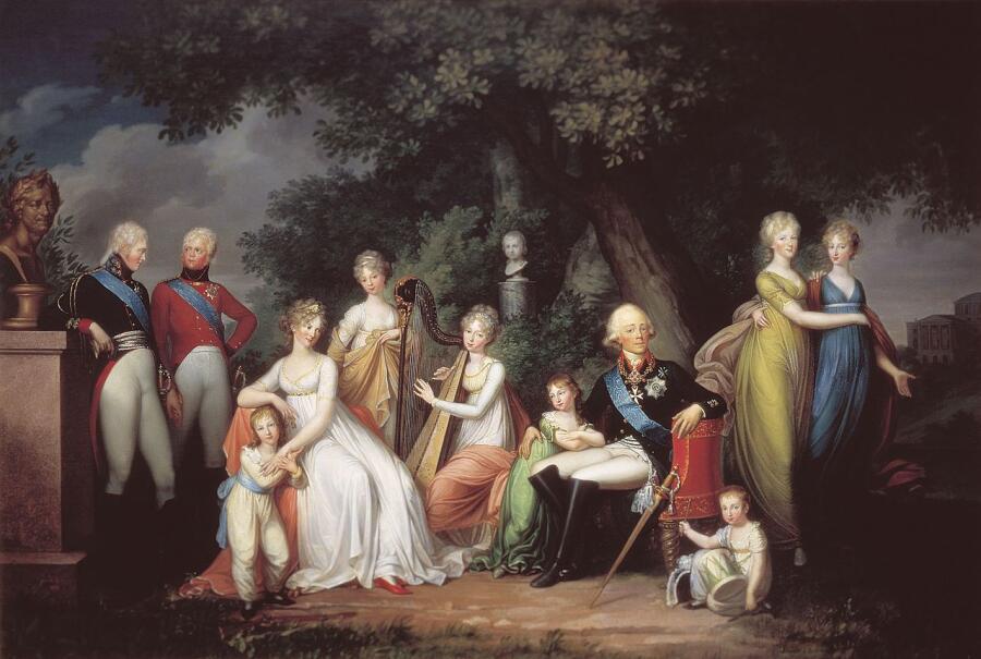 Герард фон Кюгельген, «Портрет Павла I с семьёй», 1800 г.