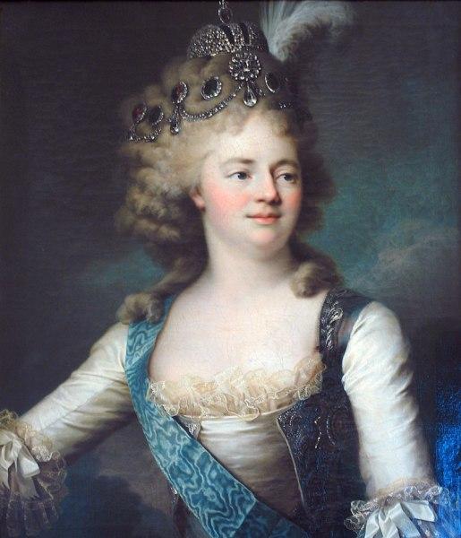 Вуаль Жан Луи, «Портрет великой княгини Марии Фёдоровны», конец 1790-х гг.