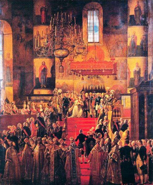 Мартин-Фердинанд Квадаль, «Коронация Павла I и Марии Федоровны»