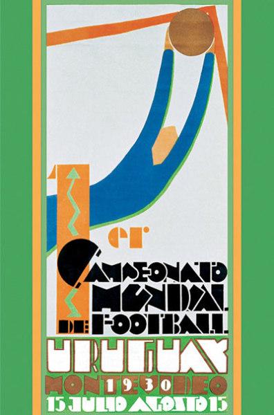 Официальный постер чемпионата мира по футболу 1930 года