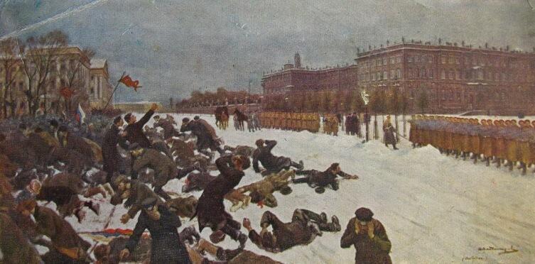 И. А. Владимиров, «Расстрел рабочих у Зимнего Дворца»